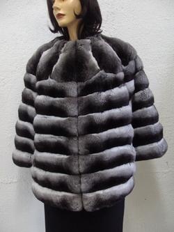 Design Fait Flambant Pour Sur Manteau Mesure Neuf De Horizontal D'élevage Fourrure Peaux En Chienchilla Femme wZnOXN80Pk
