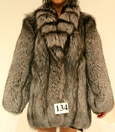 7bc6a01ce BRAND NEW SILVER FOX FUR JACKET COAT WOMEN WOMAN SIZE ALL - Oliver ...