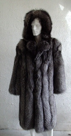 d7001289c BRAND NEW CANADIAN SILVER FOX FUR COAT JACKET WITH HOOD MEN MAN SIZE ALL