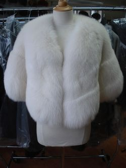 White Fur Stole >> Brand New White Fox Fur Stole Cape Wrap For Wedding Women Woman