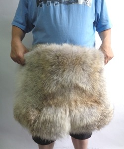 Brand New Coyote Double Sided Fur Short Pants Shorts