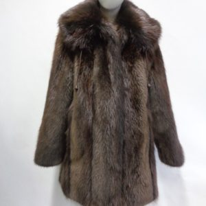 5422a6ecf BRAND NEW BROWN LONG HAIRED BEAVER FUR JACKET COAT WOMEN WOMAN SIZE ALL